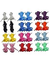 BEETEST 12 pares plana cordones de los zapatos deportivos zapatos Botas zapatillas patines zapato cordón cadena