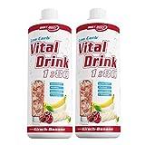 Best Body Nutrition Low Carb Vital Drink 2 x 1 Liter 2er Pack Kirsch-Banane Koffein