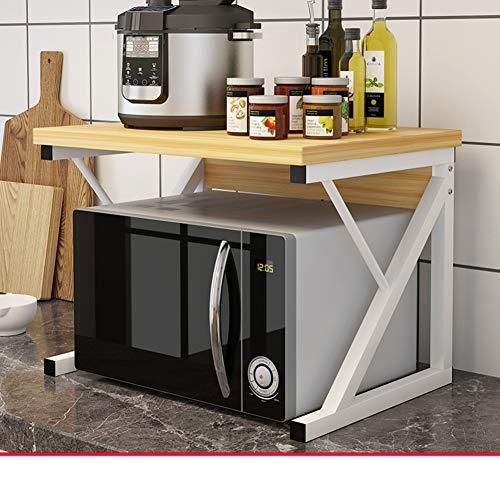 WMLD Küche Regal,mikrowelle Rack,Boden Multilayer-Speicher-Rack,gewürz Trennzeichen Rega