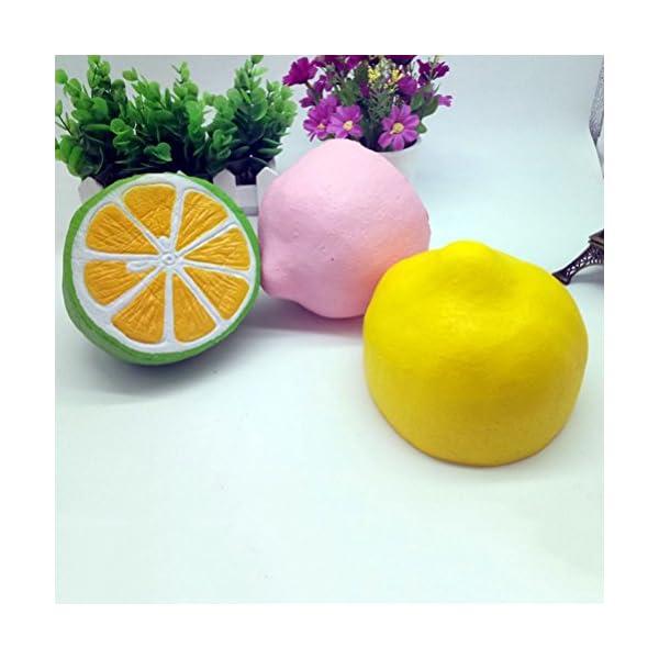 TOYMYTOY Soft Jumbo Slow Rising Lemon Slice juguete crema perfumada juguete mano muñeca Stress Relief Toy