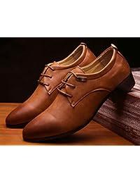 HYLM Nuevos zapatos de los hombres Señalados zapatos de boda de negocios Zapatos de vestir de boda , 45 , light brown