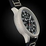 Gigandet Automatik Herren-Armbanduhr Red Baron I Fliegeruhr Uhr Datum Analog Lederarmband Schwarz G8-005 - 6