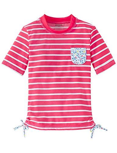 Schiesser Mädchen Strandkleid Aqua Bade-Shirt Rot (Pink 504), 128 (Top Tank Aqua Mädchen)