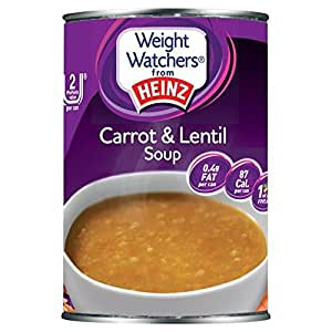 Heinz Poids Watchers Carotte Et Soupe De Lentilles 295G - Paquet de 2