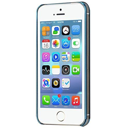 SpiritSun PC Hart Bling Zurück Schutzhülle für Apple iPhone 5 5S Schlank Handy Hülle Kristall Case Ultradünnen Glitzer Tasche Leichtgewicht Etui Anti-stoß Schale Kratzfeste Abdeckung mit Löwenzahn Mus blau