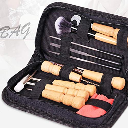 Tools for Home - Kit di riparazione portatile per chitarra, ukulele, basso, banjo e violino, colore: nero