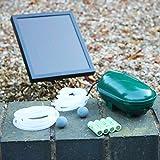PK Green Solar Teichbelüfter mit Akku | Sauerstoffpumpe 1,4 W 200 LPH | Pumpe für Garten, Teich, Fisch | Luftsprudler Solarbelüfter mit 2 Steinen | Luftpumpe für Gartenteich