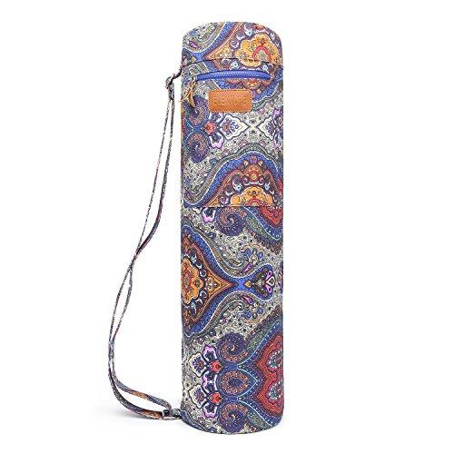 Yoga Matte Tasche, Elenture Full Zip Yoga-Matte Carry Bag mit verstellbarer Trageriemen, große funktionelle Aufbewahrung Taschen