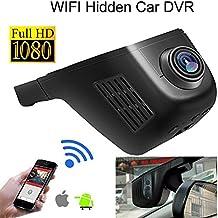 Novatek 96655 - Cámara oculta para coche, 1080 p, Full HD, Wi-Fi, DVR,170°, G-sensor