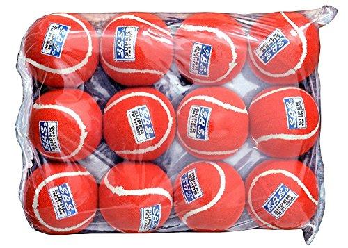 S.B.S SUPER Cricket Tennis Ball (Red)