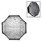 Phot-R Fotografia universale professionale 150 centimetri Octagon tessuto nero a nido d'ape morbido Egg Crate griglia Photo Studio Flash Softbox Grande