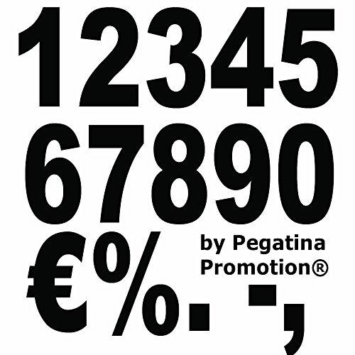"""Preisvergleich Produktbild Hochwertiges Aufkleber Set """"Zahlenaufkleber 100 Stück Höhe 10cm Klebezahlen Farbe frei wählbar"""" von Pegatina Promotion® Aufkleber mit Verklebehilfe von Pegatina Promotion® Werbung Reklame Zahlen"""