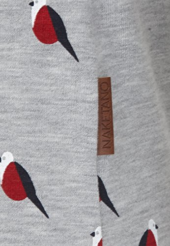 Naketano Female Sweatshirt Krokettenhorst Doofmann IV Grey-White Head Melange