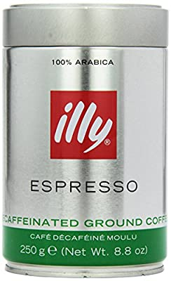 illy Coffee Ground Decaffeinated Coffee 250 g (Pack of 2) by illy caffe
