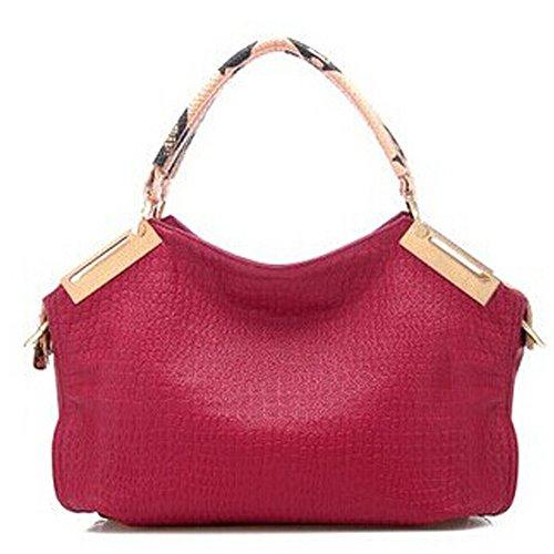 Borsa del messaggero di spalla del sacchetto dell'unit di elaborazione delle nuove donne di modo signore epoca Tote femminile del corpo della traversa Top-gestire Popolare Rosso