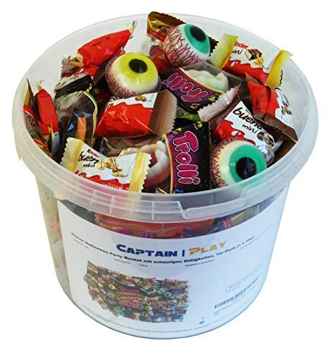 Horror Halloween Party Bucket mit schaurigen Süßigkeiten, 1er Pack (1 x 1kg) - 4
