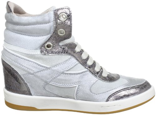 Blink BX 353-730T467 43730-T467, Sneaker col tacco donna Argento (Silber (silver/ white 467))