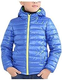 Y-BOA Manteau à Capuche Ouaté Blouson Enfant Garçon Chaud Hiver Outdoor