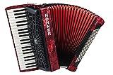 Hohner a16831s Bravo línea Facelift III 120cromática Bass Piano acordeón (con funda, color rojo