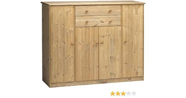 Steens 17803930 Sideboard Mario 121 X 151 X 48 Cm Kiefer Massiv, Gelaugt  Geölt: Amazon.de: Küche U0026 Haushalt