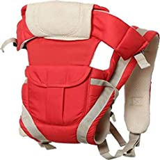 Cutieful Baby Products Adjustable Hands-Free 4-in-1 Baby Carrier Bag with Comfortable Head Support & Buckle Straps Baby Carry Bags