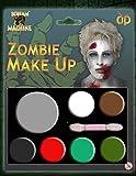 TRUCCO DI HALLOWEEN MAKE-UP PITTURA VISO ZOMBIE VAMPIRO STREGA CLOWN DEMONIO FAMIGLIA SET ROSSO BIANCO NERO - Zombie Make up, One size
