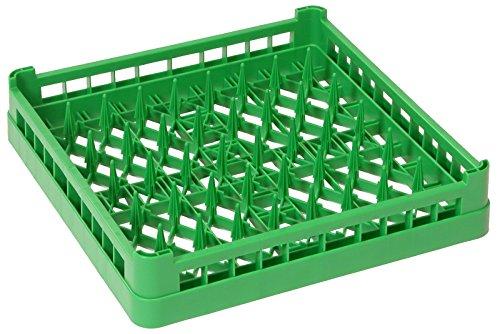 Geschirrspülkorb TELLER, grobmaschig, aus grünem Polypropylen, DIN 66075-F, stapelbar, hitzeresistent bis +120°C / 50 x 50 x 10 cm | ERK