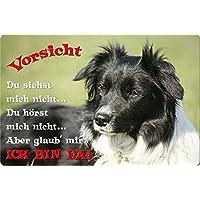 Metall WARNSCHILD Schild Hundeschild Sign BORDER COLLIE ++ BOC 07 T14