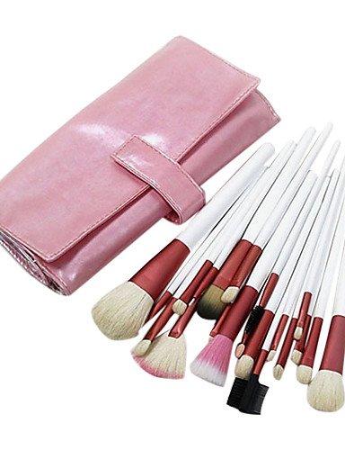 Pro 20PCS Natural Ziegenhaar Make-up-Pinsel-Set mit rosa Tasche