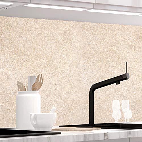StickerProfis Küchenrückwand selbstklebend - Sandstein TRAVERTIN - 1.5mm, Versteift, alle Untergründe, Hart PET Material, Premium 60 x 220cm