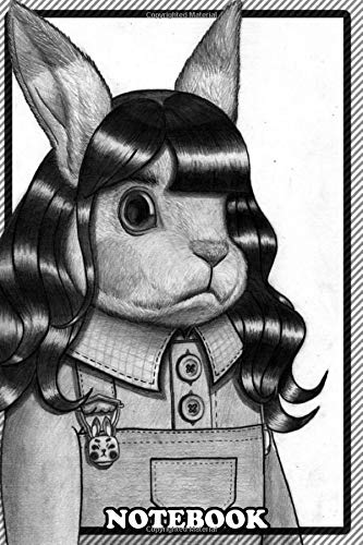 "Notebook: Bunny In A Wig , Journal for Writing, College Ruled Size 6"" x 9\"", 110 Pages"
