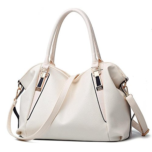 HQYSS Borse donna Moda Classic Casual Ms. Messenger morbida Tote borsa a tracolla , brown meters white