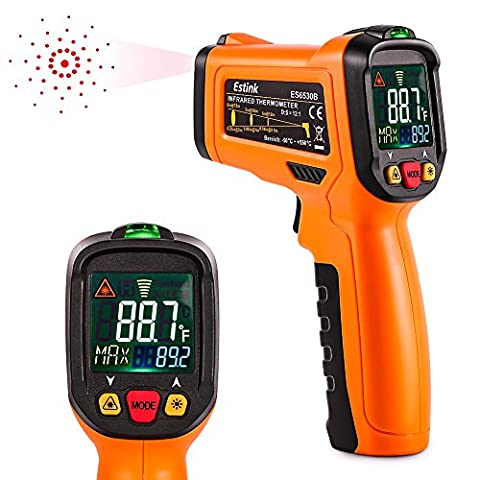 ES6530B Non-Contact Digital Laser IR Infrared Thermometer Temperature Gun for