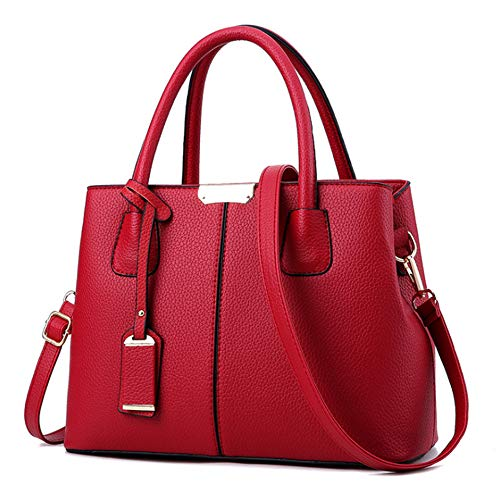 455123f471 RUITIAN Womens Soft Leather Handbags Large Capacity Retro Vintage  Top-Handle Casual Tote Shoulder Bags
