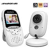 Markboard Bébé Moniteur, Babyphone numérique sans Fil 2.4 GHz avec LCD Caméra Surveillance, VOX Mode, Vision Nocturne, Audio Bidirectionnel,Capteur de Température et Berceuse intégré (JK2-2.0''LCD)