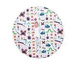 Manta de juegos para bebes XXL 160 cm plegable grande para gatear acolchada gimnasio suelo actividades alfombra Decoracion infantil Regalos bebe Varios modelos Fabricada en España (Bugs Party)