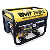 Wolf Power WP2500LR 2500 Watt, 3.12KVA Petrol Powered Generator, 4 Stroke, 6.5HP, Heavy Duty Single Voltage