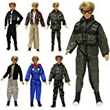 Lot 5 PCS Fashion Casual Wear Clothes/outfit for Barbie's Boy Friend Ken Doll