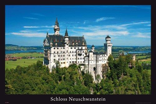 empireposter - Schloss Neuschwanstein - Märchenschloss - Größe (cm), ca. 91,5x61 - Poster, NEU - (Schloss Neuschwanstein Poster)
