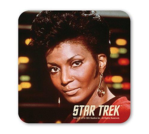 Star Trek - USS Enterprise - Commander Uhura Coaster - Untersetzer - farbig - Lizenziertes Originaldesign - LOGOSHIRT (Commander Küche)