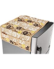 Amazon Brand - Solimo Polyester Fridge Top Cover, Gold