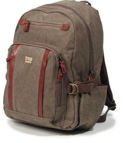 troop-london-classic-medium-backpack-canvas-bag-case-trp0256-brown