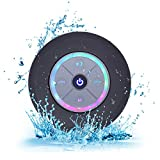 Elitehood Bluetooth Lautsprecher Dusche Mini Kabelloser Lautsprecher Wasserdicht Spritzwassergeschuetzt Tragbare FM Radio Integriertes Mikrofon Freisprecheinrichtung mit Saugnapf (Schwarz)