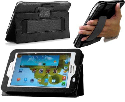 Navitech bycast Leder Case für Samsung Galaxy Note 8.0 GT-N5100 (Flip Stand Case, schwarz)