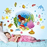 Decals Design 'Underwater Mermaid and Cr...