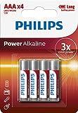 Philips LR03P4B/10 - Batería AAA ultra alcalina, 4-blister