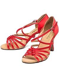 d926b236 GUOSHIJITUAN Mujer S Zapatos De Baile Latino,Satén Fondo Blando Tacones  Zapatos De Baile Tango