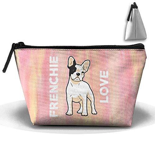Frenchie Love Cute - Französische Bulldogge Stift Briefpapier Federmäppchen Kosmetik Make-up Tasche (Bulldogge Gefüllt Französische)