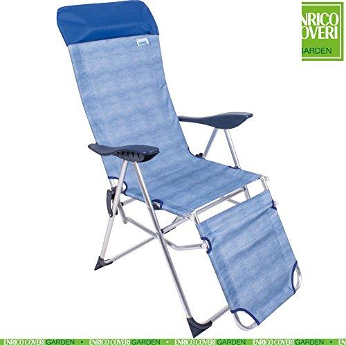 Sedia Sdraio Relax in Alluminio Reclinabile 5