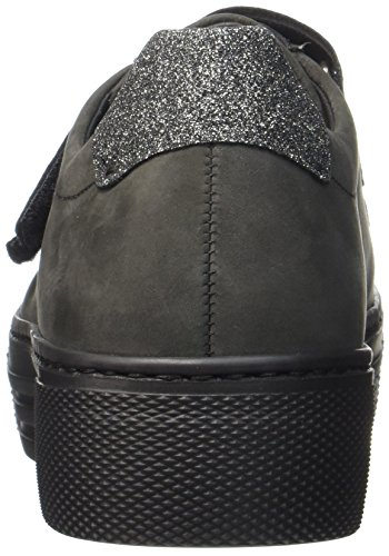 Gabor Damen Comfort Basic Derbys Grau (Dark-Grey/Argento)